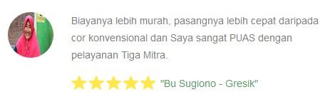 Testimony dari Bu Sugiono gresik